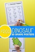 Free Dinosaur 2D Shape Posters