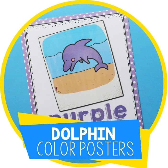 Ocean I Spy Colors Poster Set for Preschool
