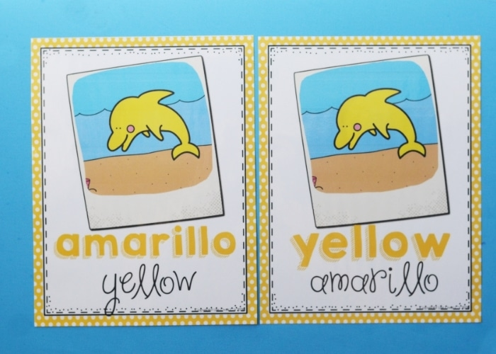 Color Posters for preschool in english and spanish