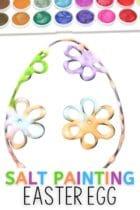 Easy Salt Painting Easter Egg Activity