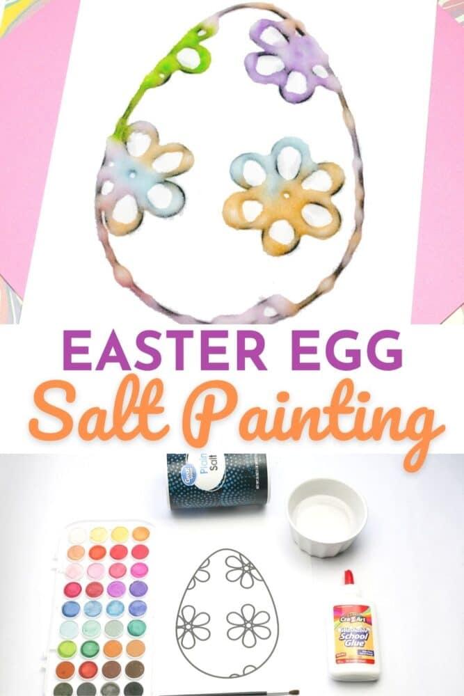 Easter Egg Salt Painting Activity for Kids