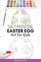Easter Egg Salt Painting Art for Kids