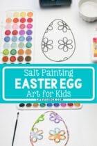 Salt Painting Easter Egg Art for Kids