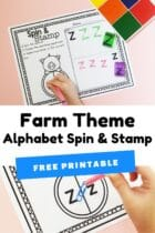Farm Theme Alphabet Spin and Stamp
