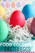 Food Coloring Easter Eggs