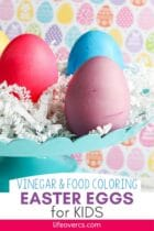 Vinegar and Food Coloring Easter Eggs for Kids