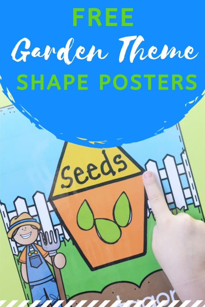 Free Printable Garden Theme Shape Posters