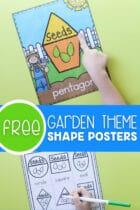 Free Garden Theme Shape Posters