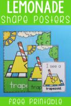 Free Lemonade Shape Posters Printable