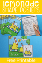 Lemonade Shape Posters for Preschool
