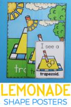 Free Printable Lemonade Shape Posters