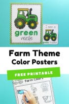 Farm Theme Color Posters