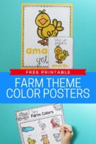 Free Printable Farm Theme Color Posters