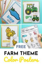 Free Farm Theme Color Posters for Preschoolers