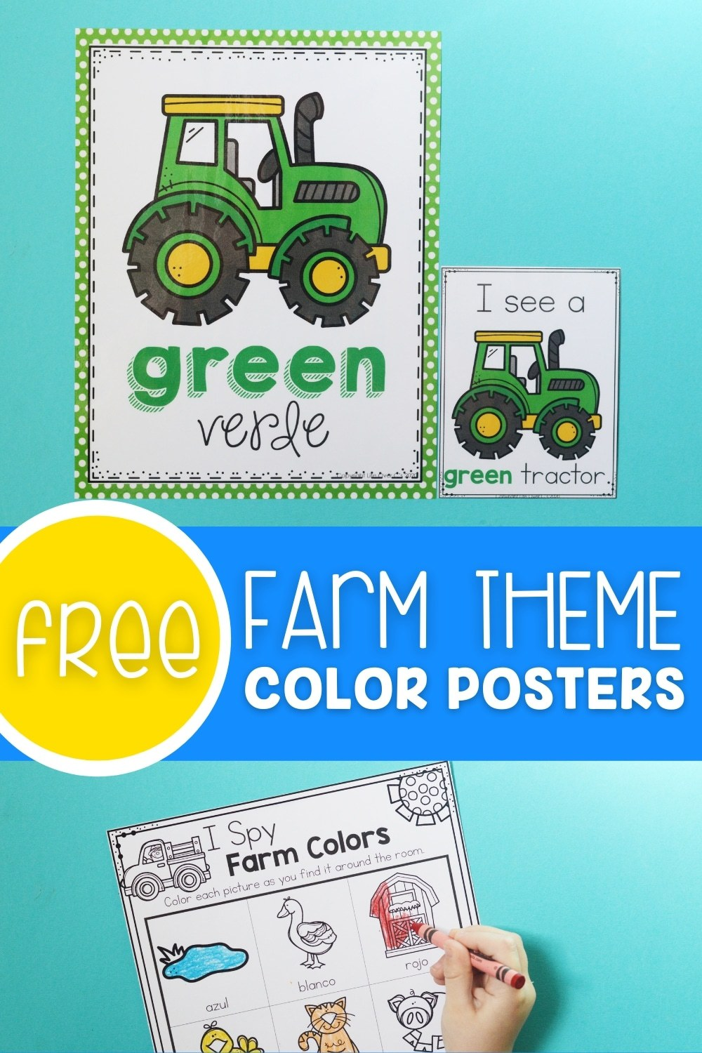 Free Farm Theme Color Posters Printable