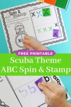 Spin & Stamp Ocean Alphabet Activity