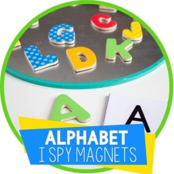 alphabet letter magnets I spy with flash cards