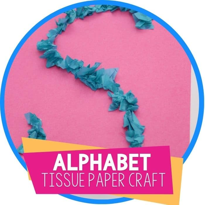 Tissue Paper Letter Activity for Preschoolers