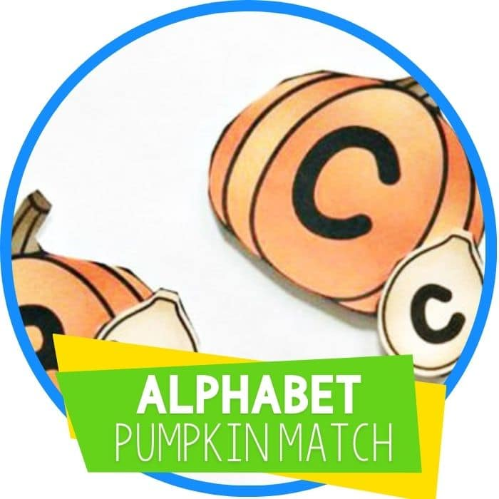 alphabet pumpkin letter matching game featured image