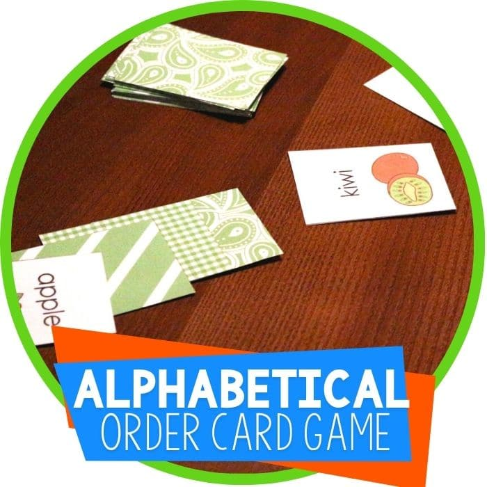"Free Printable Alphabetical Order ""War"" Card Game"