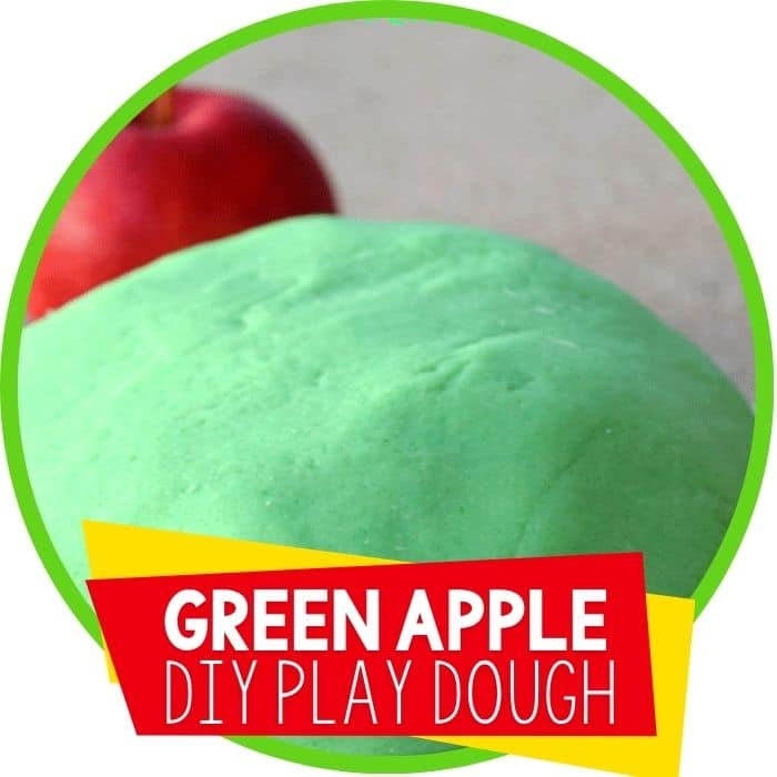Green Apple Scented Play Dough Recipe for Autumn