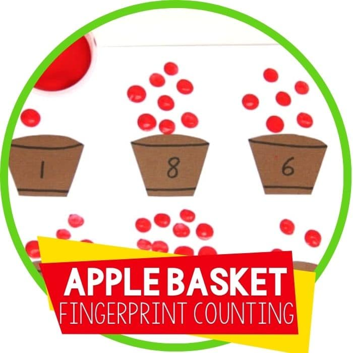 apple basket fingerprint counting math activity Featured Image
