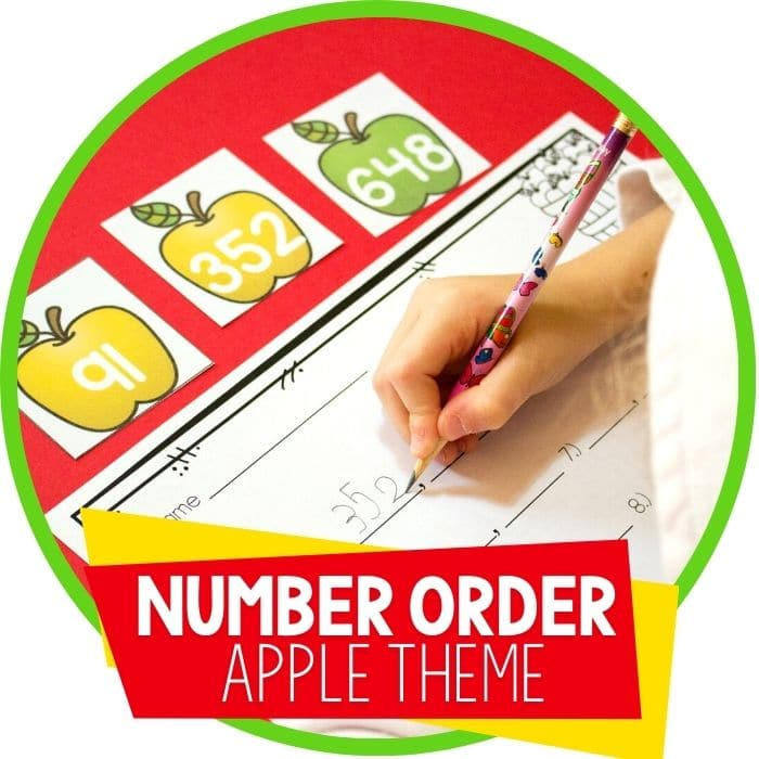 Free Number Order Printable Apples