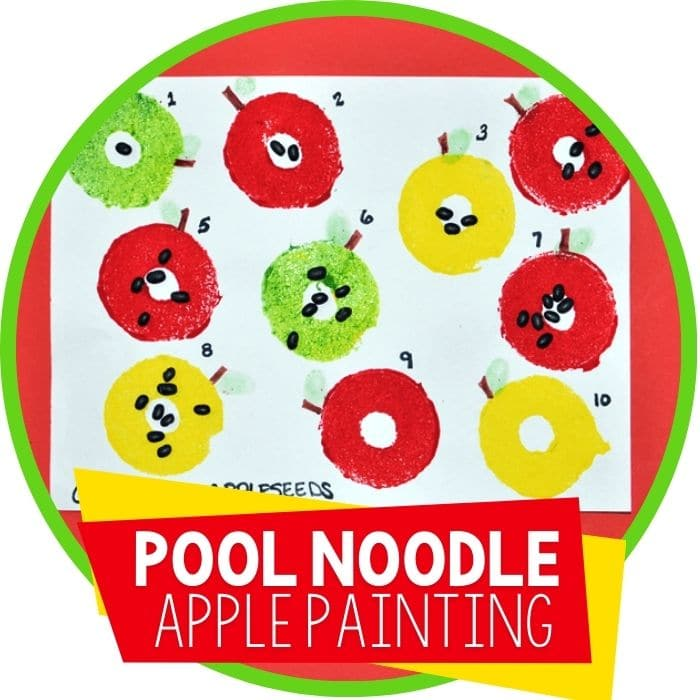 apple painting with pool noodles Featured Image