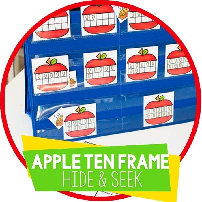 Apple Hide and Seek Ten-Frame Counting Game