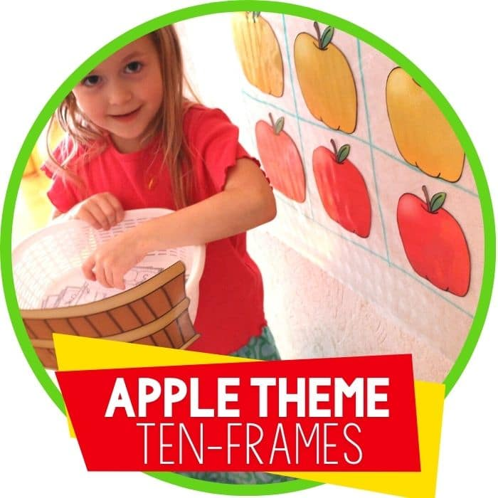 apple theme life size ten frames for addition Featured Image