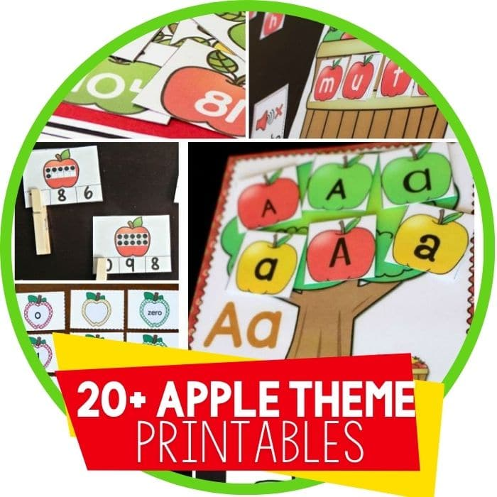 Free Educational Apple Printables