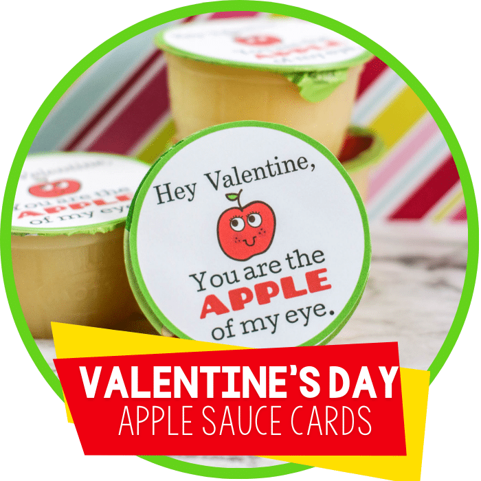 Free Applesauce Valentine Printable for Kids
