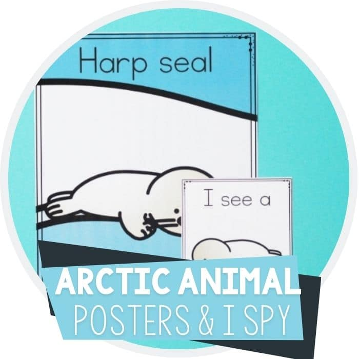 arctic animal posters and i spy game for preschool featured image