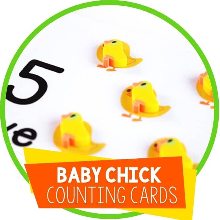 Free Printable Chick Counting Cards for 1-10