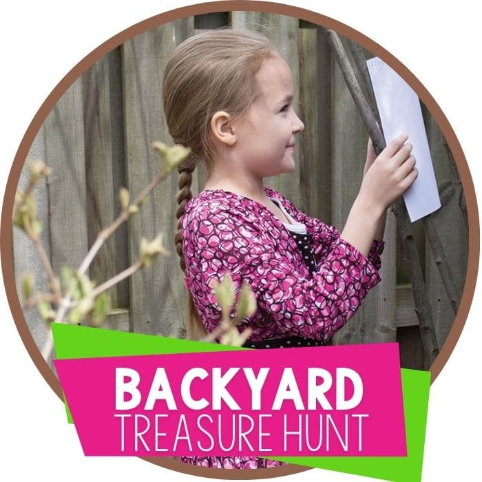 backyard treasure hunt map skills for kids featured image