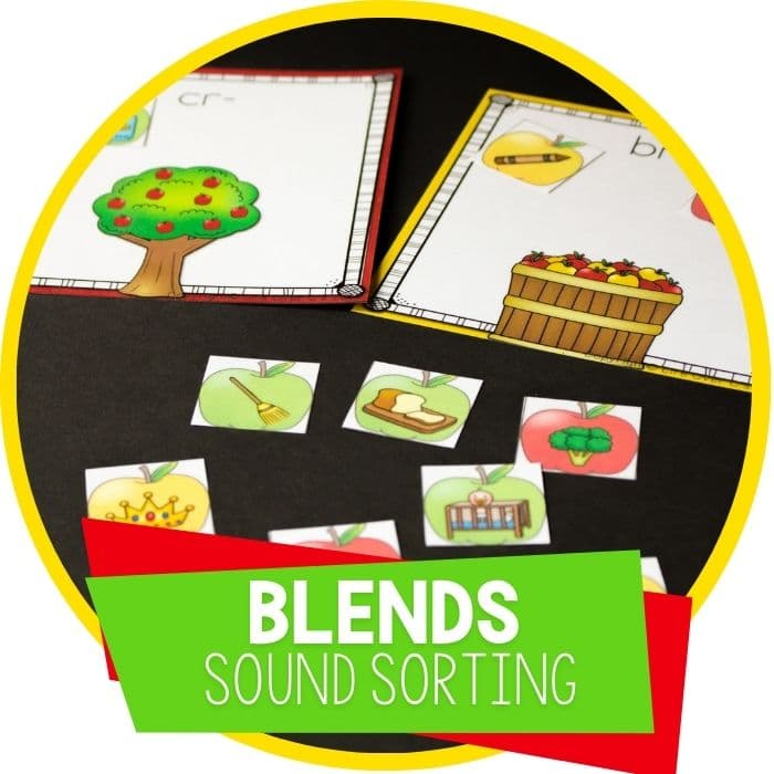 beginning blends sound picture sort for kindergarrten