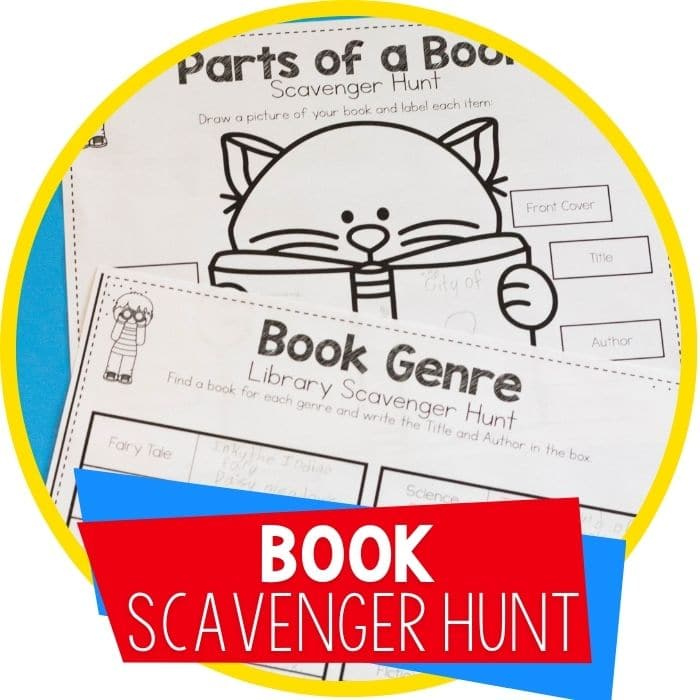 book scavenger hunt featured image