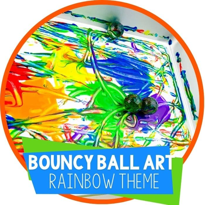 Rainbow Bouncy Ball Process Art for Preschool