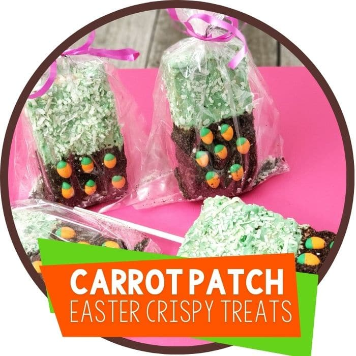 Carrot Rice Krispie Treats for Easter