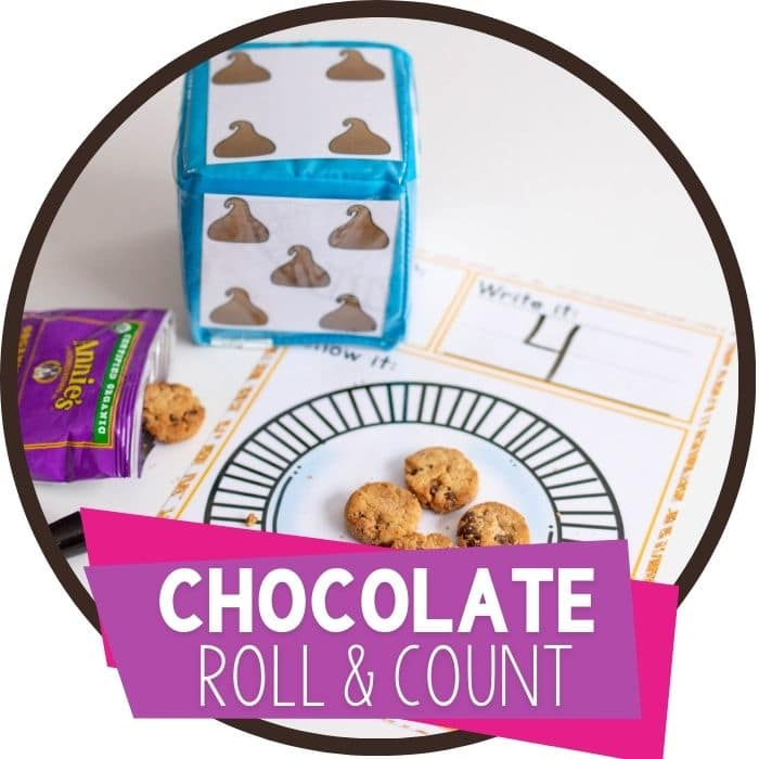 Chocolate Chip Roll and Count Activity (English & Spanish)