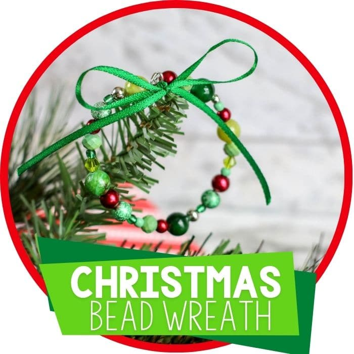 Homemade Christmas Ornament for Kids: Beaded Wreath