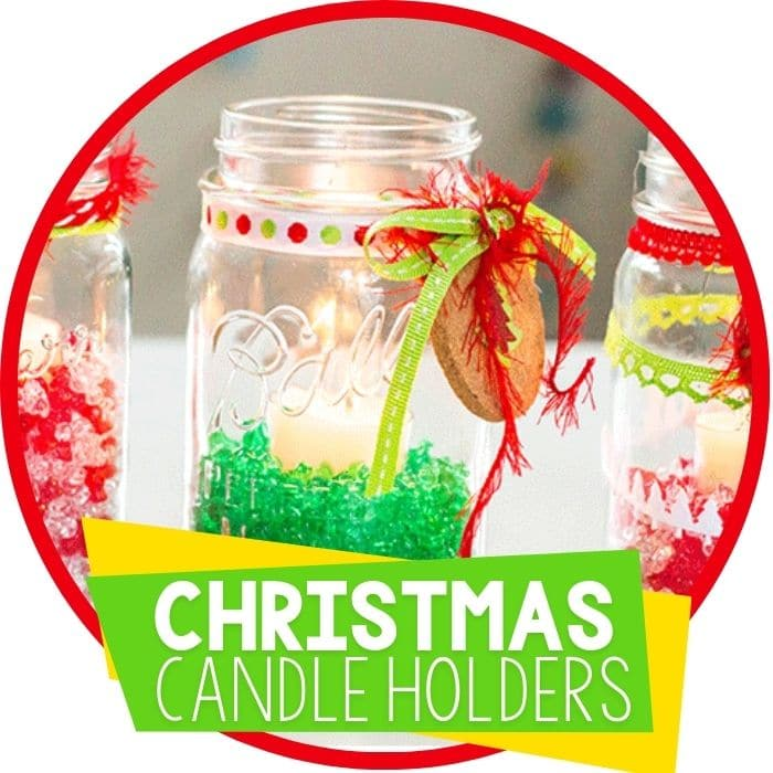 christmas candle holders jar craft featured image