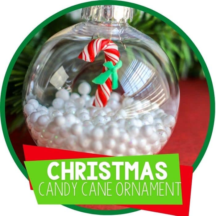 Candy Cane DIY Christmas Ornament for Preschoolers