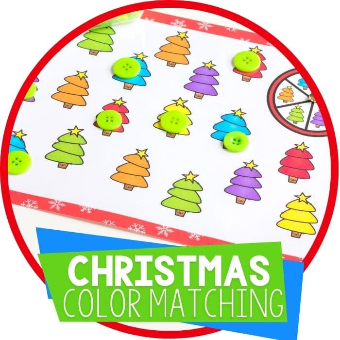Christmas Tree Matching Activities for Preschoolers