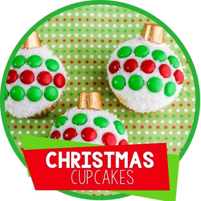 Christmas ornament cupcakes featured image