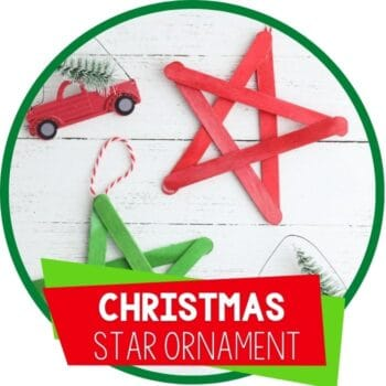 Star Christmas Ornament Craft featured image.