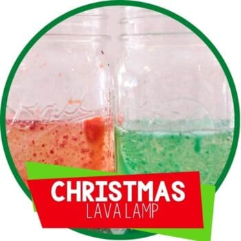Christmas Lava Lamp science experiment for kids Featured Image