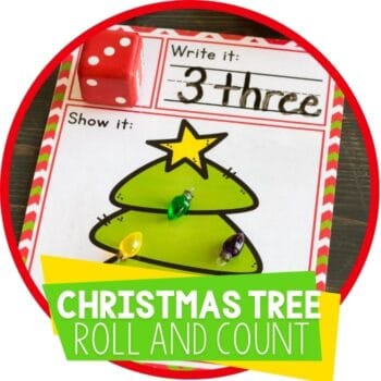 christmas tree roll and count featured image