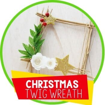 christmas twig square wreath featured image