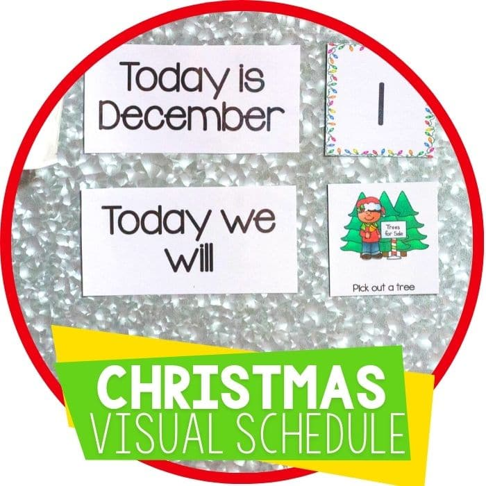christmas visual schedule featured image